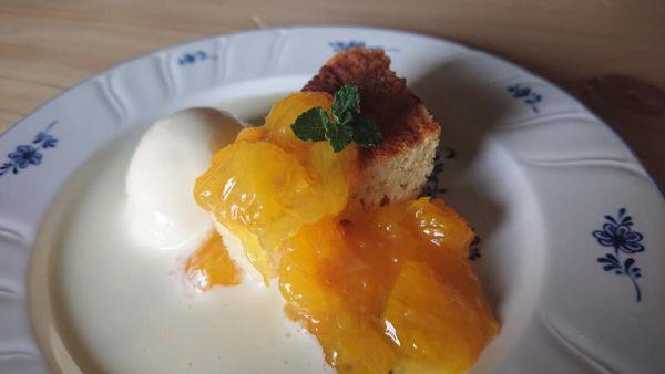 柑橘のデザート