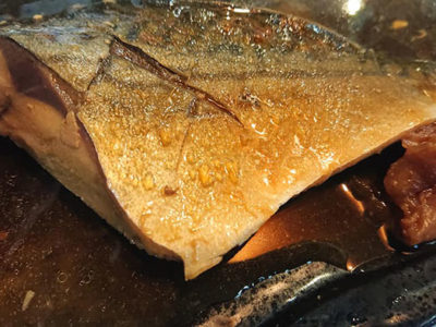 ブランド鯖を梅煮